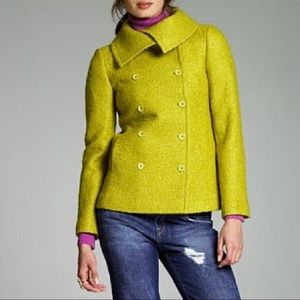 J. Crew Lucille Boucle Mohair Double Breasted Coat